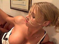 Blonde Boss Lady Fucks Her Thick Cock Employee