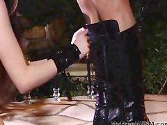 Gothic Fetish Whore In Leather Corset Sucks And Gets Fucked bdsm bondage slave femdom domination