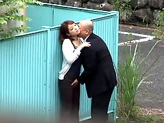 Japanese Couple Caught On Camera While Fucking Outdoors.