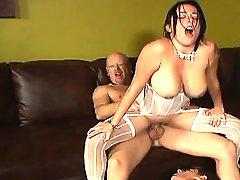 Sex-filled XXX spoof with brunette bride getting double banged after her big fat Greek wedding