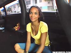 Horny Chick Works Up A Sweat Fucking In The Backseat Of A Van