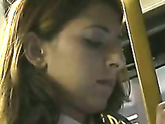 Blonde Schoolgirl groped in LA Bus