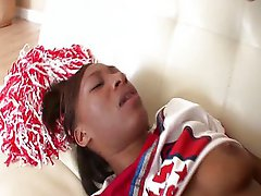 Ebony cheerleader suck and fuck