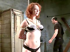 Audrey Hollander A Curly red head nymph has Humiliated
