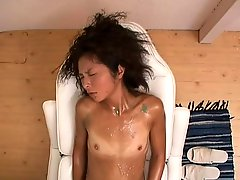 Lesbian massage with sticky goo