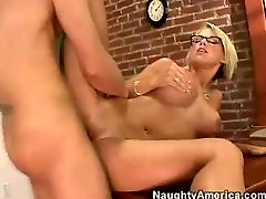 Hot teacher Kayla Synz receives her pussy hammered hard