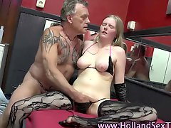 Real dutch hooker blowjob & fuck