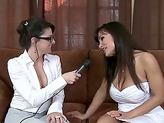 While doing an interview for Brazzers, Lisa Ann got a special visit...
