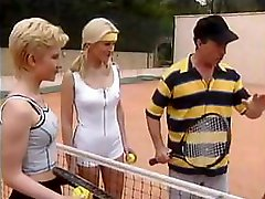 Hardcore sex on the tennis court with hot Germans