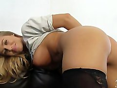 AMWF Nicole Aniston interracial foreplay with Asian guy