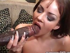 Kate Moore takes Lexington Steeles huge black cock in her tight vag