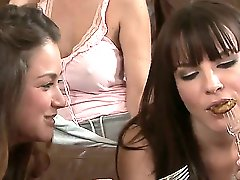 I bet you know them all - their names do not need introduction: Allie Haze, Asa Akira, Dana DeArmond, Julia Ann, Phoenix Marie - these bitches become really nasty during the impressive scene.