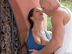 Stacked brunette Ava Addams loses her uniform and gets banged