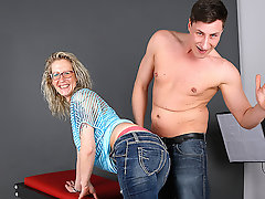 German Housewife fucking and sucking during a photoshoot