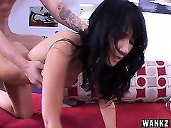 Stacked milf Diana Prince has her stepson fucking her shaved cunt deep