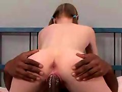 White teen stuffed with bbc