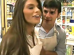 Shaft sucker Madelyn Marie gets stuffed in a store room up her moist minge