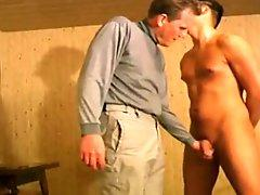 Slapping cock and balls