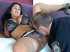 Latina chick Sienna West is a dream girl with huge tits and sexy round ass. Her best friend likes her and he tastes her sweet pussy before fuck it in all positions!