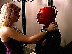 Paige Richards Masked in Rubber