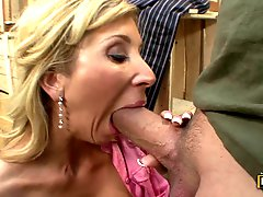 Stock Boy Gives Morgan Ray A Big Load