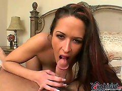 Carmella Bing blows hotly POV dick
