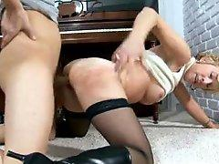Milf doggystyle rammed on the floor