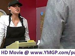 Brooke lee adams as the cashier