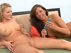 Carli Banks and sexy brunette lesbian sex