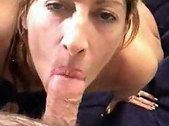 Hot woman gives a Blowjob