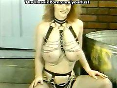 Super juggy babes Becky Savage, Busty Belle, Candy Samples in compilation retro video