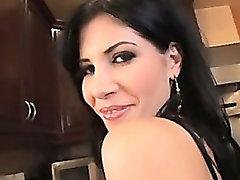Rebeca Linares pussy brutal pumped for a creampie
