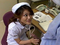 Wild Japanese nurse sucks patients dick to cheer him up a lil