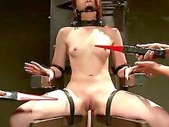 New face endures wicked side of electro play. She is molested,...