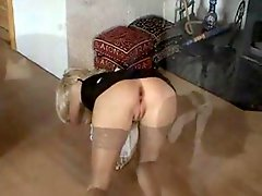 Maid Milf in Stockings Gets A Good Load