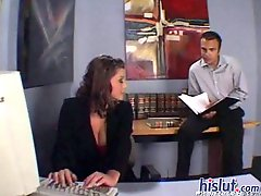 Secretary Sara Stone banged in office