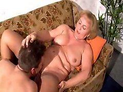 Mature lady is burning with a desire