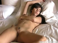 Girl with big tits sleeping in the nude