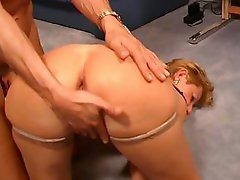 Her mature german ass and cooch both get fucked with candles