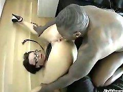 Black Man Slapping This Hot White Girls Ass & Fucks It Hard...