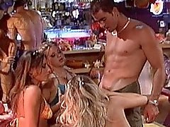 Blond Bar Whores Fight For Creamy Dick