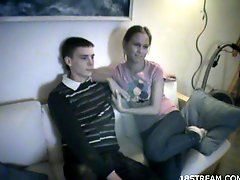 Amateur Lana and Gosha have sex in homemade video