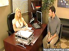 Lesbian Babes Kagney Linn Karter and Shawna Lenee in an Office 3some