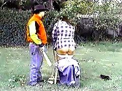 FATTY SPANKED ON THE FARM