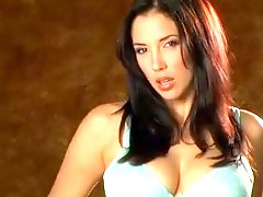 Jelena Jensen acquires Moist and rubs her big juggs