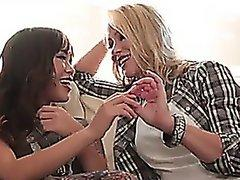 Oriental Asian Girl And British Women Are A Cougar Or A Lesbian Strapon Action