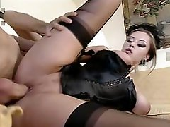 High-society ass fucking from a gorgeous milf and her horny lover